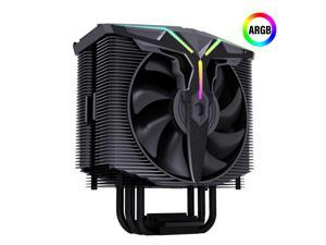 GOLDEN FIELD Wind Walker A-RGB CPU Cooler, 5V M/B SYNC Supported, 2* Pressure Optimized PWM Fans, 4 Heat Pipes CPU Fan for Intel AMD