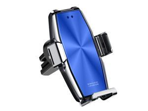 helloleiboo Wireless Car Charger 10W Qi Fast Charging Auto-Clamping Car Mount Air Vent Phone Holder