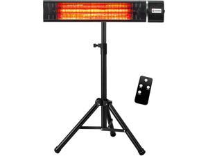 Infrared Patio Heater Electric Portable 1500W Adjustable Tripod Indoor/Outdoor Golden Tube Heater