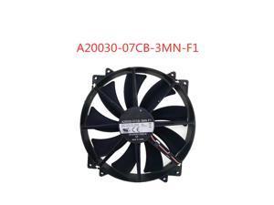 Emacro-ventilador de refrigeración para A20030-07CB-3MN-F1, cc 12V, 0.30A, 200x200x30mm, ventilador de refrigeración de servidor
