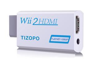 Wii to HDMI Converter,Wii HDMI Adapter Output Video Audio HDMI Converter 1080P,with 3,5mm Audio Jack&HDMI Output Compatible with Wii, Wii U, HDTV, Supports All Wii Display Modes 720P, NTSC