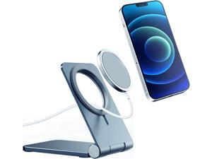 Wireless Charger Stand for Magsafe,Aluminum Alloy Magsafe Charger Stand,Cradle Holder for Magnetic Cell Phone,Adjustable Mobile Phone Base for iPhone 12,12 Pro,12 Pro Max,12 Mini(Gray)