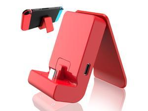 Switch Stand for Nintendo,Charging Dock for Nintendo Switch and Nintendo Switch Lite,Portable Switch Adjustable Charging Stand for Nintendo with USB Type C Charger Port(Red)