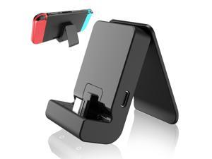 Switch Stand for Nintendo,Charging Dock for Nintendo Switch and Nintendo Switch Lite,Portable Switch Adjustable Charging Stand for Nintendo with USB Type C Charger Port(Black)