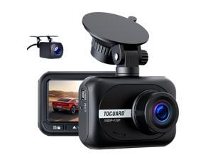 """TOGUARD 1080P Dash Cam Front and Rear, Dual Dash Cam with Waterproof Backup Camera for Cars, Mini Small Car Dash Camera w/2.45"""" IPS Screen WDR Wide Angle G-Sensor Loop Recording Parking Mode"""