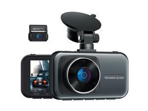 "TOGUARD 4K Dash Cam Car Camera, Supercapacitor Ultra HD 4K+1080P Dual Dash Cam for Car, 3"" Display Car Security Camera Vehicle Driving Recorder w/Hardwire Kit 24/7 Parking Mode G-Sensor Lock"