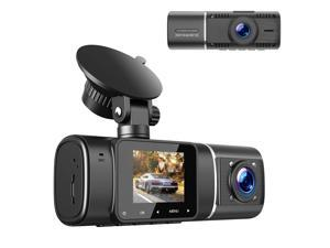 """TOGUARD FHD 1080P Dual Dash Cam Front Inside Cabin Car Camera Driving Recorder for Car Taxi w/IR Night Vision Interior Camera Parking Mode Motion Detection Accident Locked 1.5"""" LCD Display"""