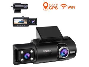 TOGUARD 3 Channel Dash Cam Car Camera Driving Recorder, 1440P(Front)+1080P(inside)+1080P(Rear), Built-in WiFi GPS, w/IR Night Vision, Parking Monitor, Loop Recording, 3.2 inch Screen