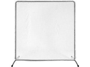 Kapler Baseball Screen Pitching Protective Net, 7x7Ft Baseball Softball Pitching Screen for Pitcher Safety Protective, with Wheels to Portable Move