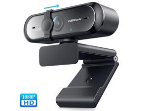 CAMPARK 1080P Webcam for PC Full HD Autofocus Camera with Cover USB Web Cam with Microphone Streaming Camera for Skype Streaming Teleconference etc.