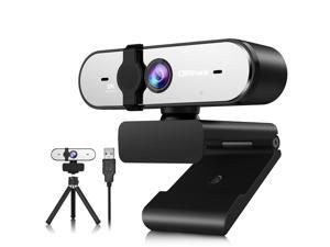 CAMPARK 2K/1440P Webcam with Microphone for PC USB QHD Autofocus Web Cam with Webcam Cover Expandable Tripod Streaming Camera for Skype Streaming Teleconference etc.