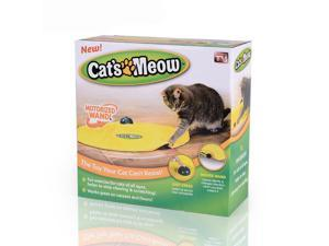 BUYTER Cat's Meow Undercover Nylon Fabric Moving Panic Mouse Interactive Play Kitty Funny Creative Kitten Toy