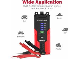 GOOLOO Intelligent Automatic Car Battery Charger 12V 2A Maintainer AGM/Gel/Wet