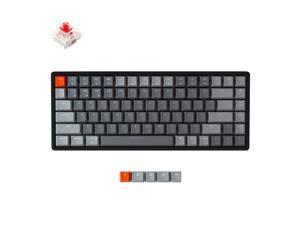 Keychron K2 V2 Wireless Bluetooth USB Wired Mechanical Gaming Keyboard Aluminum Frame, Compact 84 Keys RGB LED Backlight N-Key Rollover Gateron Red Switch for Mac Windows