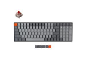 Keychron K4 Wireless Bluetooth 5.1/Wired USB Mechanical Gaming Keyboard, Compact 96% Layout 100 Keys Computer Keyboard Gateron Red Switch White LED Backlight N-Key Rollover for Mac Windows-Version 2
