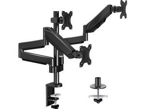 Triple Monitor Stand Mount - 3 Monitor Desk Mount for Computer Screens Up to 27 inch, Triple Monitor Arm with Gas Spring, Heavy Duty Monitor Stand, Each Arm Holds Up to 17.6 lbs, MU0006