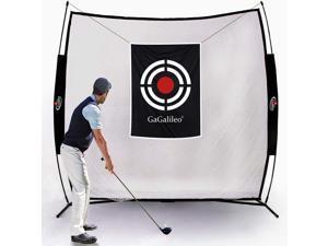 Gagalileo Golf Net Golf Hitting Net, Golf Driving Range, 10x8x3ft Golf Practice Net, Z-Shaped with Roof Net, Front Block Net and Carry Bag