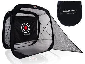 Gagalileo Pop Up Golf Net, Golf Practice Net, Golf Nets for Backyard Driving, Golf Net Self-Opening, Quick Setup Golf Hitting Net for Backyard with Target Cloth and Carry Bag(Size Optional)