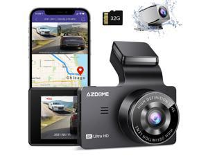 """AZDOME M63 4K WiFi GPS Car Dash Cam 3"""" IPS UHD 3840x2160P + 1080P Dual Lens Dashboard Camera Recorder 150° Wide Angle with Night Vision, WDR, Time Lapse, 24H Parking Mode, Support 256GB Max"""