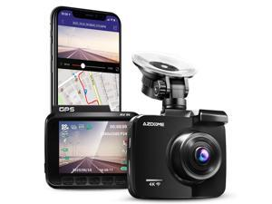 AZDOME GS63H 4K Dash Cam Ultra HD 2160P Car Camera with WiFi GPS, Dashboard DVR Driving Recorder with 170 °Wide Angle, WDR, Super Night Vision,G-Sensor, Support 128GB Max
