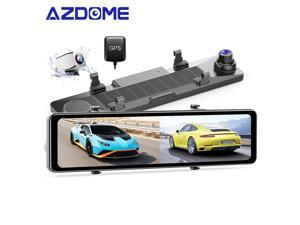 """AZDOME 2.5K Mirror Dash Cam 12"""" Touch Screen Front and Rear Dual Dash Camera for Cars Night Vision Backup Camera GPS G-Sensor Parking Assistance"""