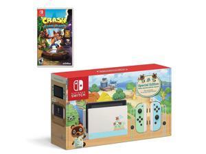 Nintendo Switch Bundle w/Game: Nintendo Switch Animal Crossing New Horizons Edition 32GB Console, Crash Bandicoot: N.Sane Trilogy Game