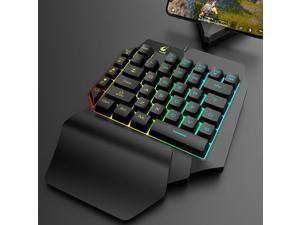 K15 One-Handed Gaming Keyboards LED Backlight Keyboard Left Hand Game Keypad