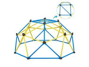 Albott Geometric Dome Climber – Rust and UV Resistant Steel Frame Outdoor Kids Play Jungle Gym Climbing Dome with 800lbs Weight Capacity Safe for 1-6 Kids (6FT)