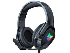 ONIKUMA X4 Wired Gaming Headset Stereo Over-ear Game Headphone with Noise Reduction Mic RGB Lights for Computer PC Gamer