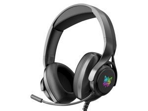 ONIKUMA X16 Wired Headphones Surround Sound Stereo Headsets Over-ear Game Headphone with Noise Cancelling Mic RGB Lights for Computer Gamer