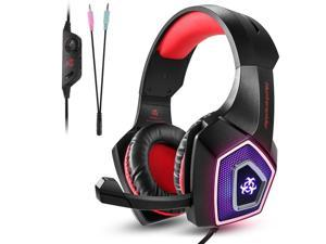 Hunterspider Gaming Headset Noise Cancelling Headphone with Microphone Surround Sound for PS4 Nintendo Switch Mac Xbox one(Adapter Not Included)
