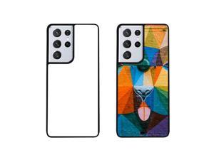 7 Pcs Heat Press 2 in 1 2D Sublimation Blank Cell Phone Cases Bulk with Aluminum Sheet for Samsung Galaxy S21 Ultra Soft Rubber Black Personalized Phone Case