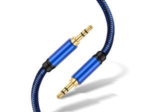 Audio Cable 3ft, Uperatre 3.5mm Audio Cable Professional HiFi Male to Male Braided Stereo Aux Cord Wire for Headphones, Smartphone, Speaker, Home Car Stereo System and More