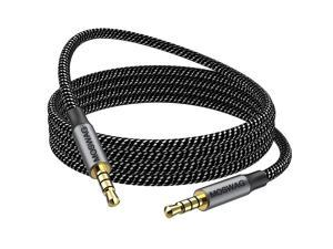 MOSWAG 10FT/3Meter 3.5mm Audio Cable Male to Male 4 Pole Audio Cable Stereo Aux Cable Auxiliary Cable Aux Cord for Headphones,PS4,Smartphone,Tablets,Headset,PC,Laptop and More