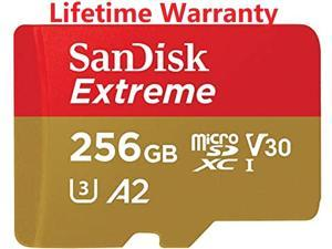 Sandisk Extreme 256GB MicroSDXC 160MB/s C10 V30 A2 4k Phones Drones *Everyday Reliability- For Life
