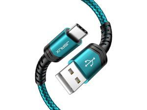 USB Type C Cable 3A Fast Charging [2-Pack 6.6ft], JSAUX USB-A to USB-C Charge Braided Cord Compatible with Samsung Galaxy S10 S9 S8 S20 Plus A51 A11,Note 10 9 8, PS5 Controller, USB C Charger-Green