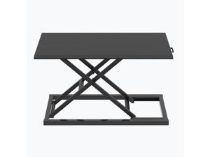 Luxor Pneumatic Standing Desk Converter - Black
