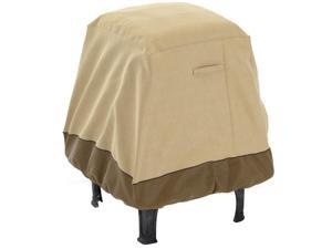 """Fade Proof Two Tone 35"""" Heavy Duty Square Chimney Firepit Bowl Table Cover, XL"""