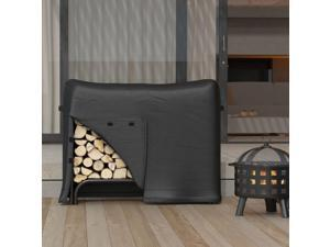 Regal Flame Heavy Duty 4 Foot Indoor Outdoor Black Water Resistant Firewood Log Rack Cover