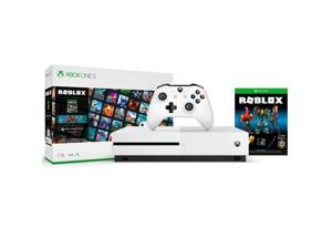 Xbox One S 1TB Roblox Console Bundle - White Xbox One S Console & Controller - Full download of Roblox included - 4K Ultra HD Blu-ray video streaming - 3 Avatar bundles, Accessories & 2500 Rob