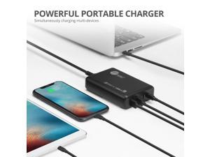 Siig 100W Dual Usb-C Pd 3.0 Pps Charger With Qc 3.0 Combo Power Charger