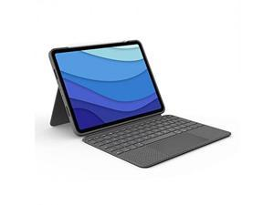 """Logitech Combo Touch iPad Pro 11"""" (1st, 2nd, and 3rd Generation) Keyboard Case - Detachable Backlit Keyboard with Kickstand, Click-Anywhere Trackpad, Smart Connector - Oxford Gray"""