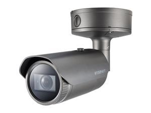 Hanwha Techwin XNO-8082R 6 Megapixel Network Camera - Bullet - 131.23 ft Night Vision - H.265, H.264, H.264M, H.264H, MJPEG - 3328 x 1872 - 3x Optical - CMOS - Pole Mount