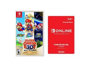 Super Mario 3D All-Stars Nintendo Switch + Nintendo Switch Online Family Membership 12 Month Code - For Nintendo Switch & Nintendo Switch Lite - Online Activation only - 12 Month Membership - Acti