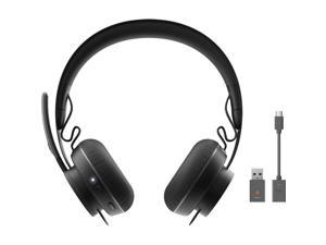 Logitech Zone 900 Headset - Stereo - USB Type A - Wireless - Bluetooth - 98.4 ft - 30 Hz - 13 kHz - Over-the-head - Binaural - Ear-cup - MEMS Technology, Omni-directional, Noise Cancelling Microphone