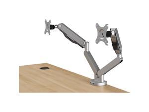 HON BDMAUSB Mounting Arm for Monitor, 2 Display Supported - 75 x 75, 100 x 100 VESA Standard - Silver