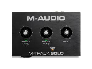M-Audio M-Track Solo 2-Channel USB Audio Interface with Crystal Preamp