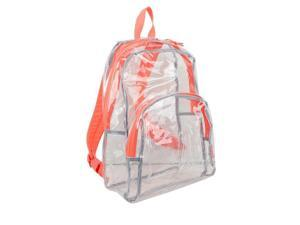 Eastsport 2303244 Eastsport Clear All Day Backpack - Clear with Orange Trim, Case of 12