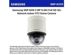Samsung SNP-6320 2 Megapixel Network Camera - Color, Monochrome - Board Mount