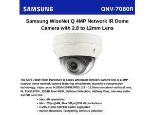 Samsung Techwin WiseNet QNV-7080R 4 Megapixel Network Camera - Color, Monochrome